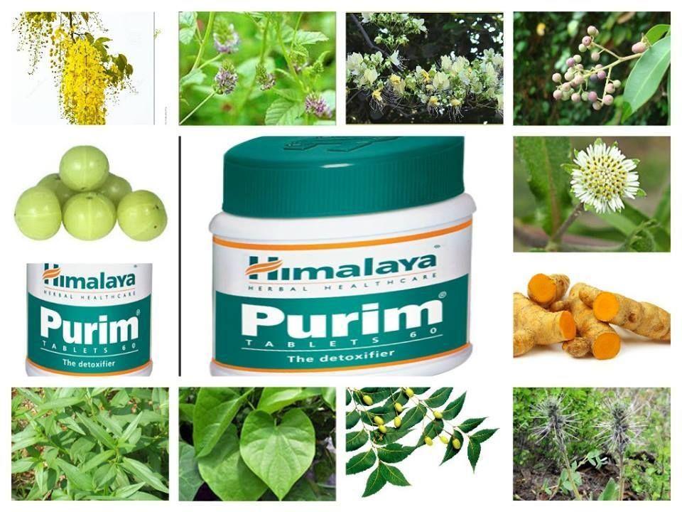 Viên thải độc máu Purim Himalaya với thành phần chiết xuất từ các loại thảo dược quý, giúp thanh lọc máu tuần hoàn máu, loại bỏ độc tố,