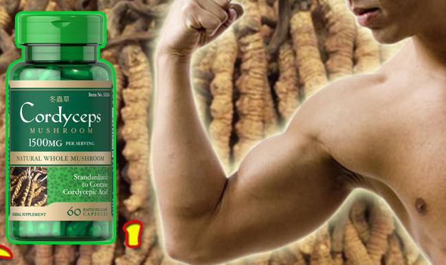 Đông Trùng Hạ Thảo Cordyceps Mushroom Puritan's Pride 1500mg 60 viên 3