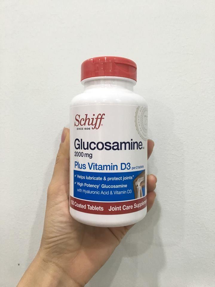 Viên Schiff Glucosamine 2000mg Thích hợp sử dụng cho người cao tuổi, vận động viên.