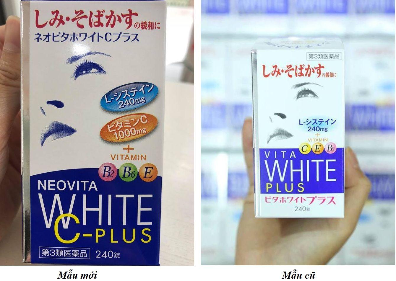 Viên uống trắng da Vita white Plus hộp 240 viên của Nhật  1