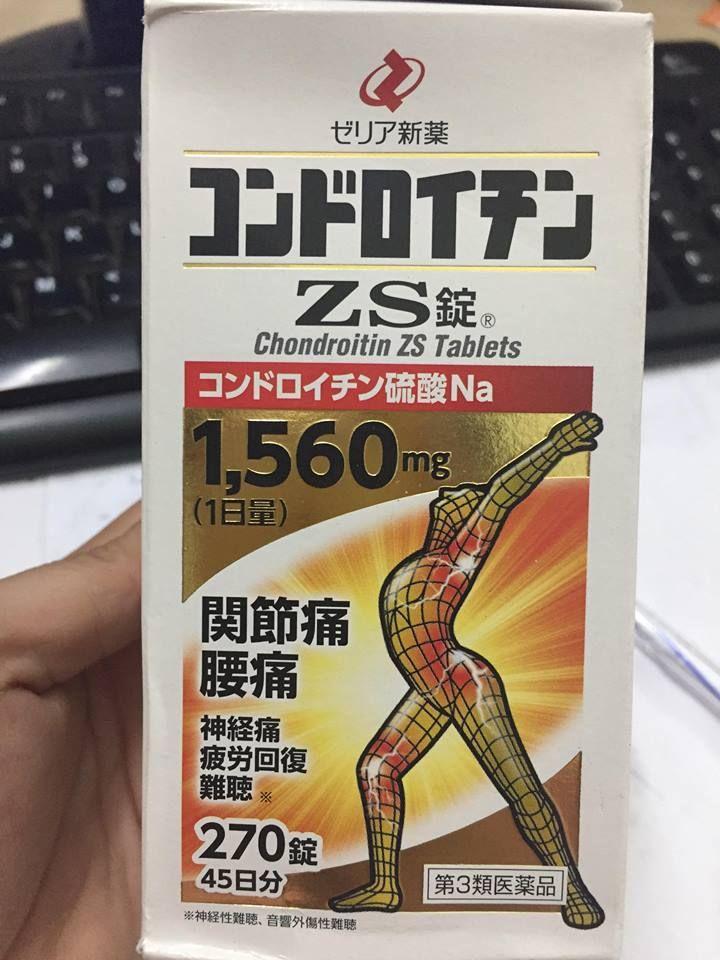 Viên hỗ trợ Xương Khớp ZS Chondroitin1560mg Của Nhật