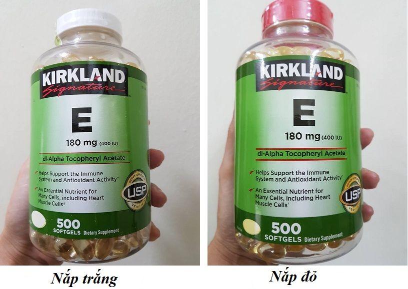 Vitamin E 400 IU Kirkland của Mỹ hộp 500 viên 1