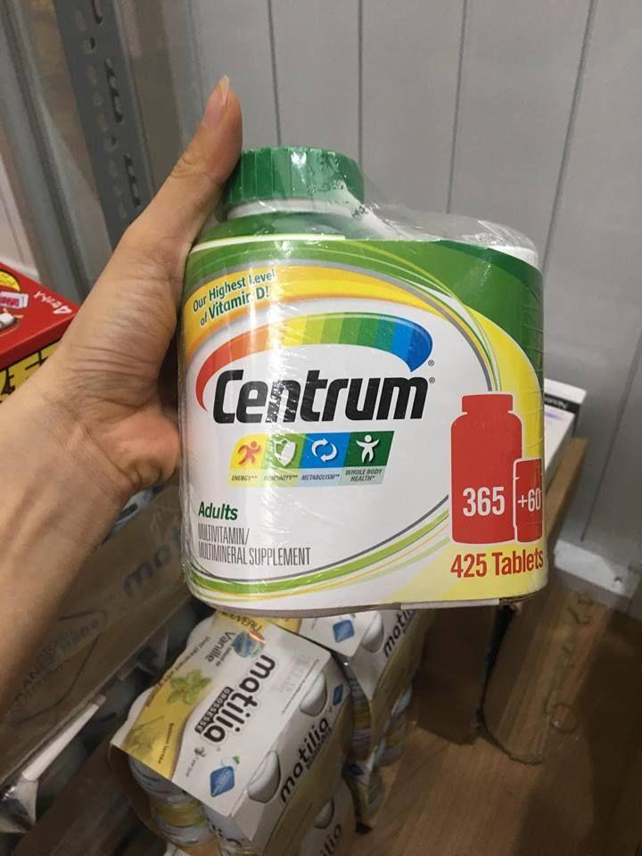 Centrum adults vitamin tổng hợp cho người dưới 50 tuổi loại 425 viên