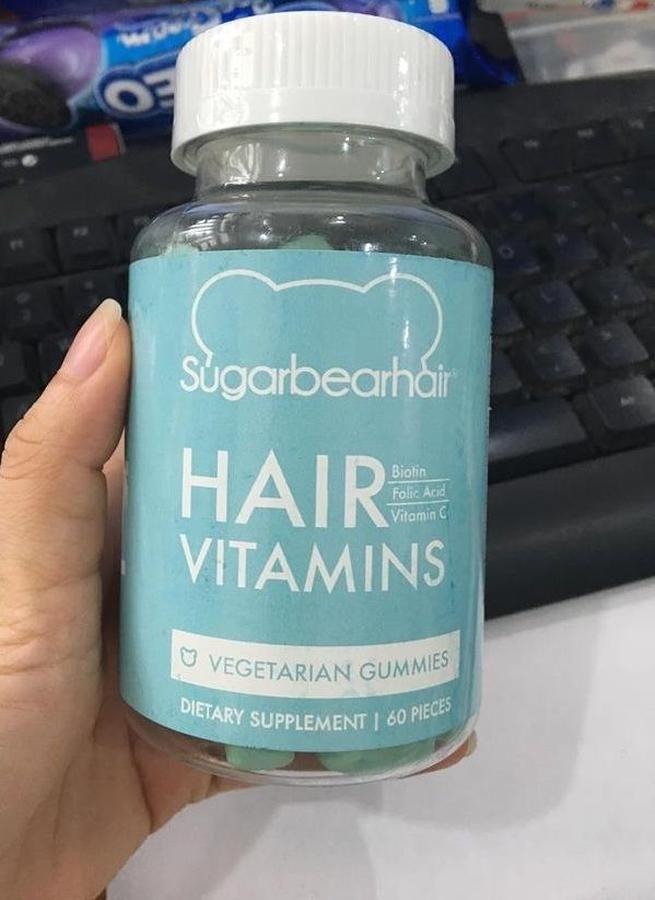 Kẹo gấu mọc tóc SugarBear Hair - Vitamin hỗ trợ mọc tóc 60 viên
