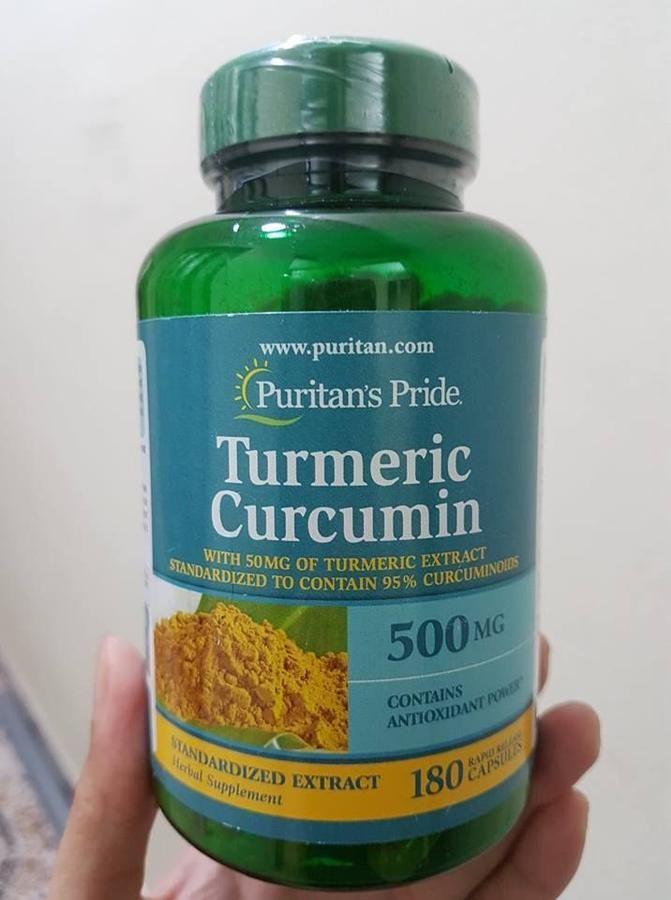 Tinh chất nghệ vàng curcumin Puritan's Pride 500mg 180 viên  1