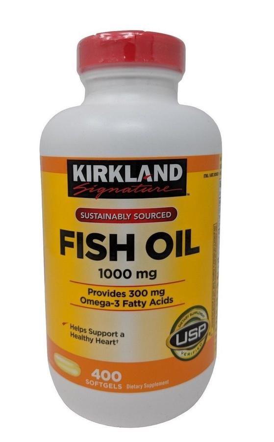 Dầu cá Kirkland Fish Oil 1000mg hộp 400 viên 1