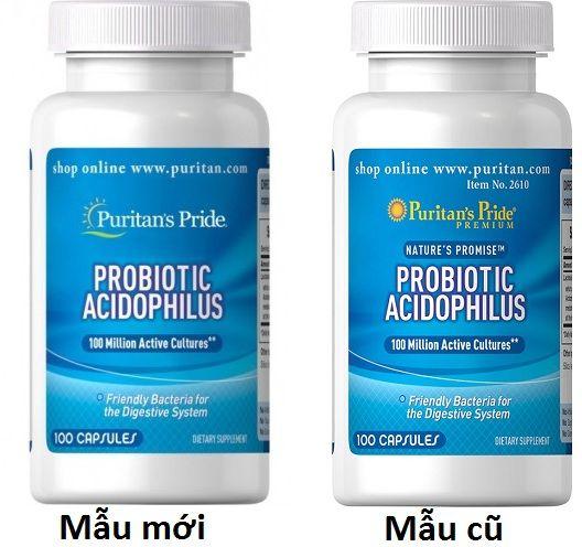 Men vi sinh Probiotic Acidophilus Puritan's Pride 1