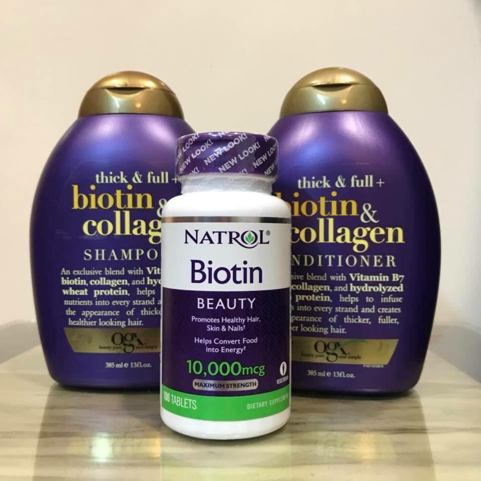 Dầu xả mượt tóc Biotin & Collagen OGX của Mỹ 3