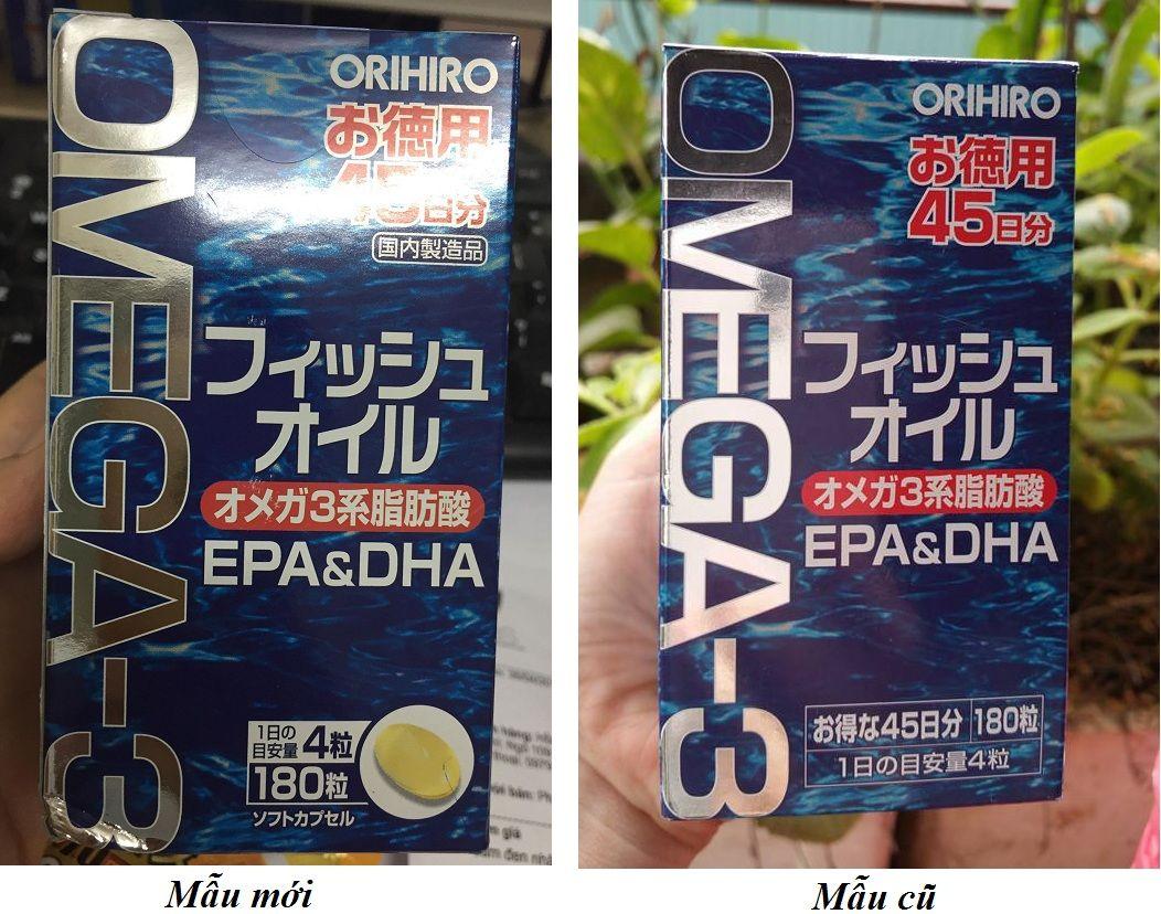 Dầu cá Omega 3 Orihiro 180 viên Nhật Bản 1
