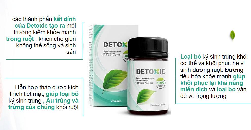 Detoxic Viên uống cải thiện tiêu hóa, tăng cường sức khỏe (Mua 2 tặng 1) 2