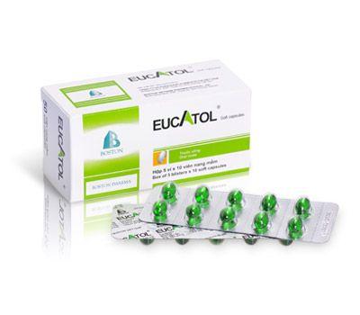 Thuốc Eucatol Forte trị ho, đau họng (Hộp 5 vỉ x 10 viên) 1