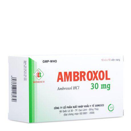 Thuốc long đờm, tiêu chất nhầy đường hô hấp Ambroxol (30mg) 1