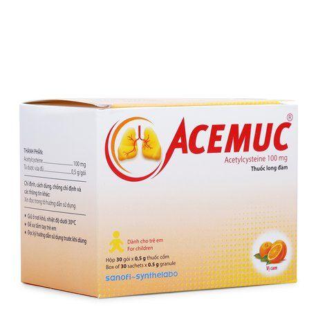 Thuốc cốm Acemuc (100g)- Trị rối loạn tiết dịch đường hô hấp 1