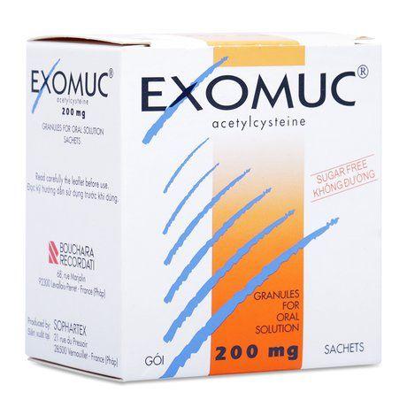 Thuốc trị rối loạn phế quản Exomuc Acetylcysteine (200mg) 1