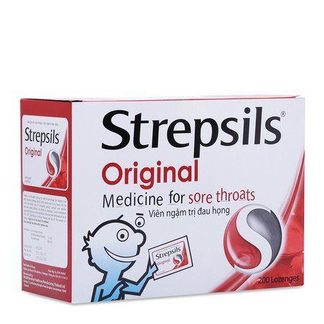 Viên ngậm đau họng Strepsils Original (100 gói x 2viên/ hộp) 1