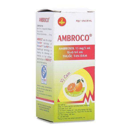 Sirô tan đờm Ambroco dành cho trẻ em (30ml)- Xuất xứ Mỹ 1