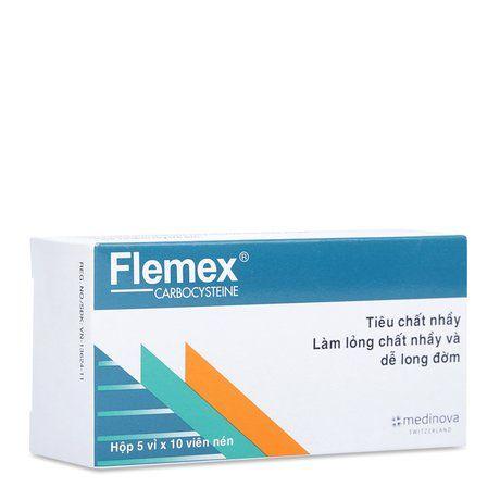 Thuốc tiêu nhầy, long đờm Flemex (375mg)- Xuất xứ Thụy Sỹ 1