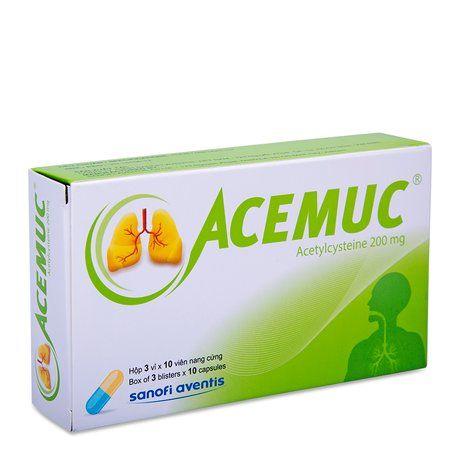 Thuốc trị rối loạn tiết dịch đường hô hấp Ecemuc (200mg) 1