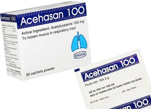 Thuốc bột làm loãng đờm đường hô hấp ACEHASAN 100 (Hộp 30 Gói) 1