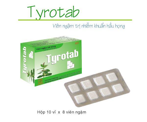 Viên ngậm sát trùng TyrotabTyrotab - Viên ngậm sát trùng Tyrotab 10 vỉ x 8 viên/hộp cho miệng và họng ( 10 vỉ x 8 viên/hộp) 1
