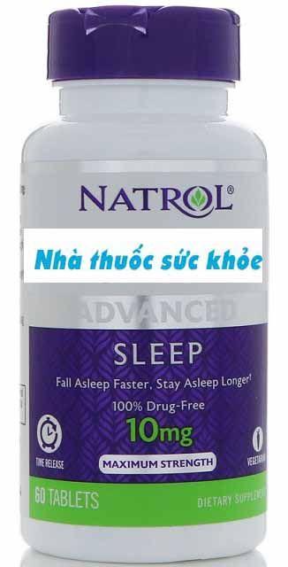 Viên uống Natrol 10mg hỗ trợ cải thiện giấc ngủ 2