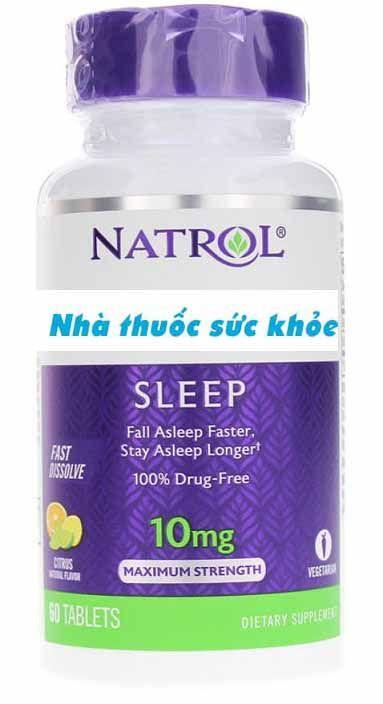 Viên uống Natrol 10mg hỗ trợ cải thiện giấc ngủ 1