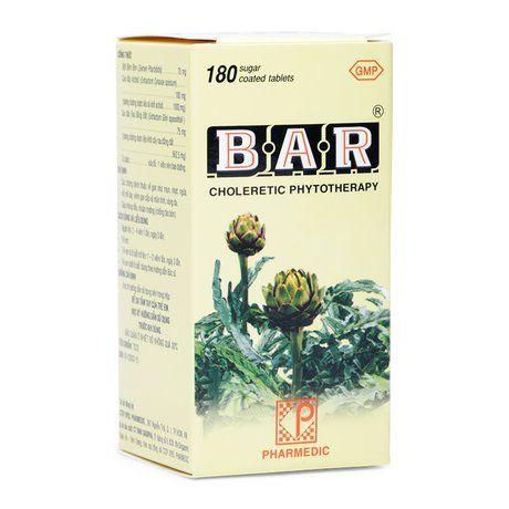 Thuốc lợi gan mật điều trị các bệnh về gan Bar( Lọ 180 viên) 1