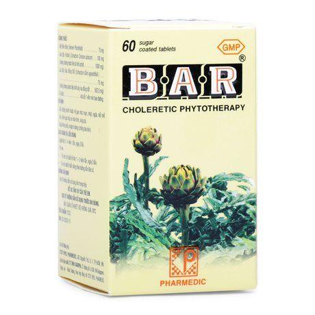 Thuốc lợi gan mật Bar (Lọ 60 viên)- Xuất xứ Việt Nam 1