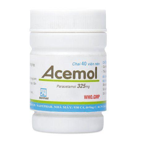 Thuốc giảm đau- Hạ sốt Acemol 325mg (40 viên/chai) 1