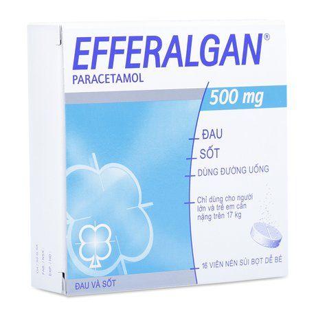 Thuốc trị đau hoặc sốt dạng viên nén sủi bọt Efferangan 1