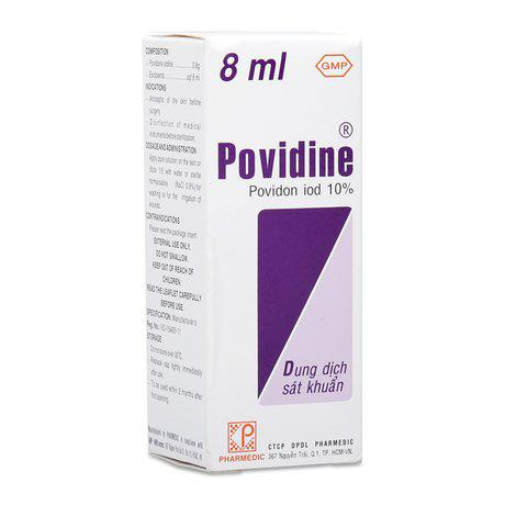 Dung dịch sát khuẩn Povidine Povidon IOD 10%(10 chai x 8ml) 1