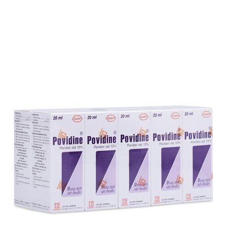 Dung dịch sát khuẩn Povidine Povidon IOD 10%(10 chai x 20ml) 1