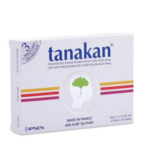 Thuốc trị suy giảm nhận thức và thần kinh cảm giác Tanakan 1