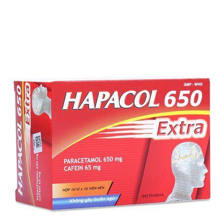 Thuốc giảm đau hạ sốt không gây buồn ngủ Hapacol Extra 650mg 1
