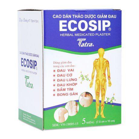 Cao dán thảo dược giảm đau Ecosip Tatra (20 gói x 5 miếng) 1