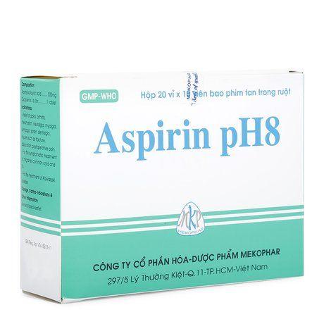 Thuốc Aspirin Ph8 - Hạ sốt, giảm đau, kháng viêm (20 vỉ x 10 viên) của Mekophar