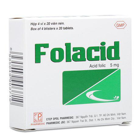 Thuốc trị thiếu hụt hợp chất Folac axit, thiếu máu Folaccid 1