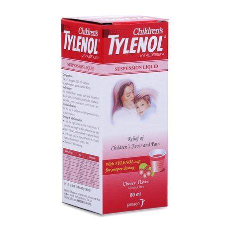 Siro giảm đau và hạ sốt cho trẻ em Tylenol Children's (60ml) 1