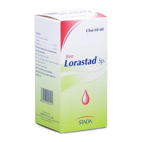 Siro trị viêm mũi dị ứng và nổi mề đay Lorastad Sp (60ml) 1