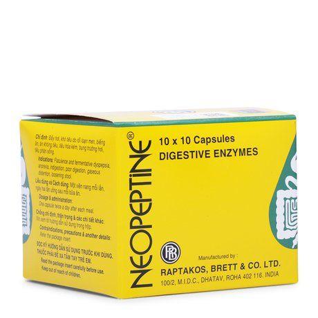 Thuốc Neopeptine - Thuốc điều trị đầy hơi, khó tiêu (10 vỉ x 10 viên)