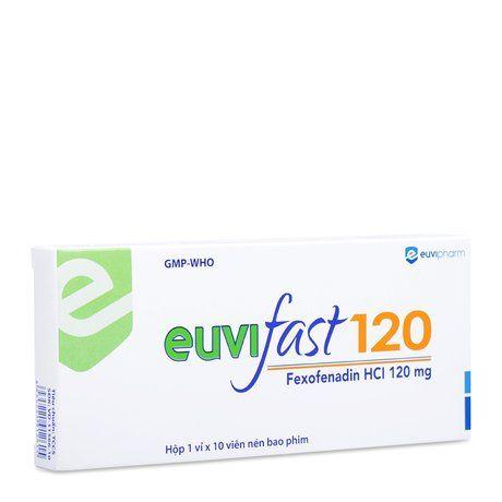 Thuốc điều trị viêm mũi dị ứng Euvifast 120mg (Hộp 10 viên) 1