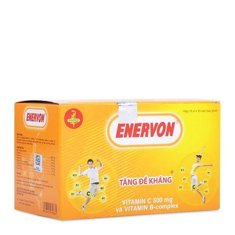 Thuốc trị thiếu hụt Vitamin C, B tăng sức đề kháng Enervon 1