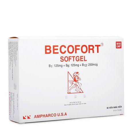 Thuốc phòng & trị sự thiếu hụt các sinh tố nhóm B Becofort 1