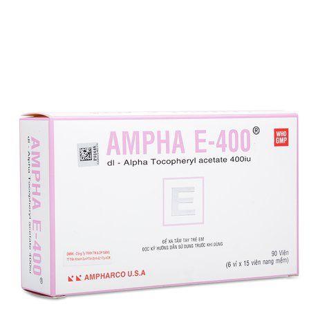 Thuốc dự phòng & trị tình trạng thiếu Vitamin E Ampha E- 400 1