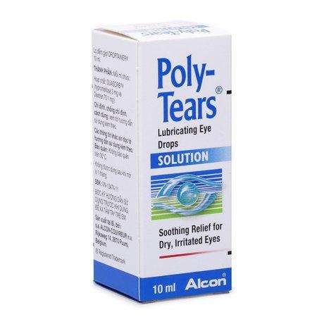 Thuốc nhỏ mắt vô trùng giảm & tiết nước mắt Poly Tears Drop 1