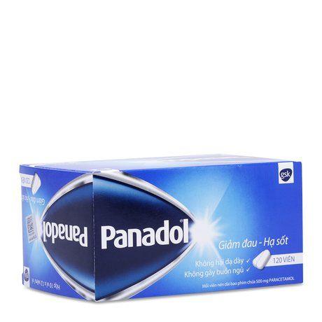 Thuốc giảm đau hạ sốt không gây buồn ngủ Panadol (500mg) 1