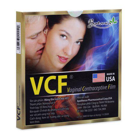 Màng phim tránh thai Vcf ( 3 miếng/ hộp) 1