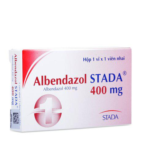 Thuốc tẩy giun/ sán Albendazol Stada (400mg) 1