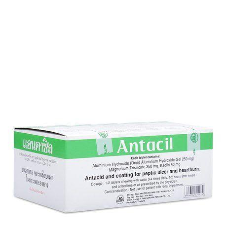 Thuốc trị triệu chứng đau viêm loét dạ dày- Tá tràng Antacil 1