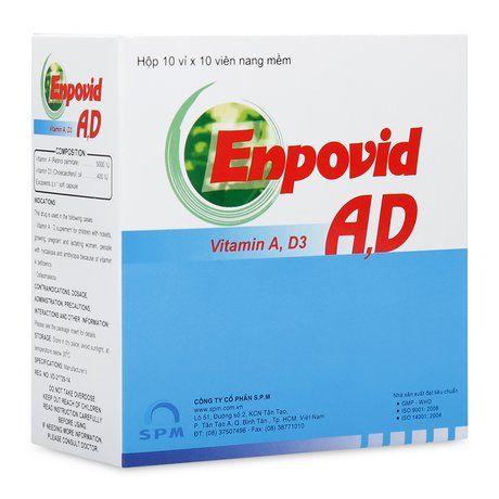 Thuốc bổ sung Vitamin A- D phòng nhuyễn xương Enpovid A, D 1